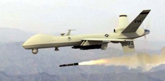 United States denied that its military drone struck an Afghan refugee camp