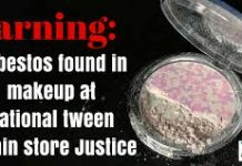 MakeUp Products Can Have Asbestos