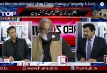 News Reviews With Sajid Ishaq (Topic: Census of Minority & Budget 2018) HumSub.TV