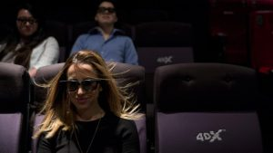 Marketing Director Yassamine Wahab at the CJ's 4DX Lab in the Hollywood Section of Los Angeles.