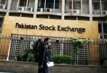 Pakistan Stocks Exchanges KSE 100 Index Is Down