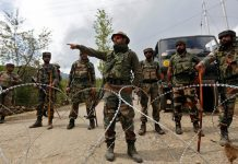 Indian Troops Firing Along LoC