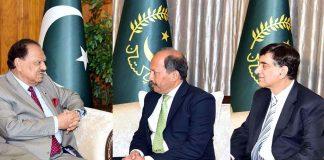 President Mamnoon Meets Pakistan Envoys To Australia And Austria