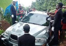 Father Buried In Brand New BMW Car Instead Of Coffin