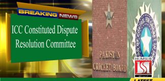 ICC Constituted Dispute Resolution Committee For PCB And BCCI