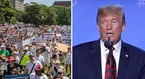 Anti-Trump Protests In UK