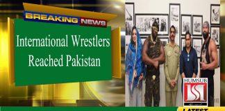 International Wrestler Reached Pakistan