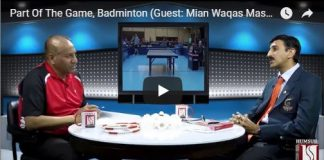 HumSub.TV Part Of The Game, Badminton (Guest Mian Waqas Masood) 12th May 2018