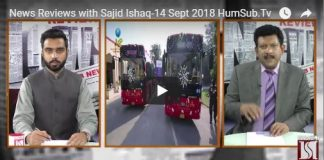 News Reviews with Sajid Ishaq 14 September 2018 HumSub.Tv