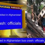 At least 13 killed in Afghanistan bus crash: officials