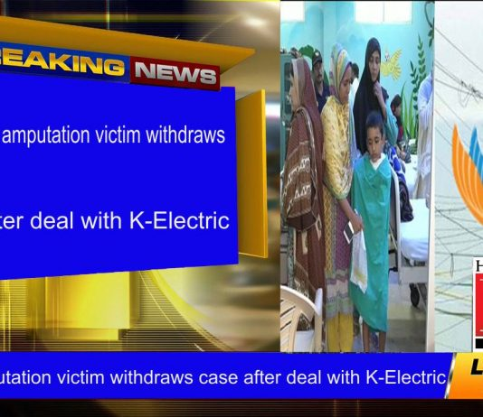 Family of amputation victim withdraws case after deal with K-Electric