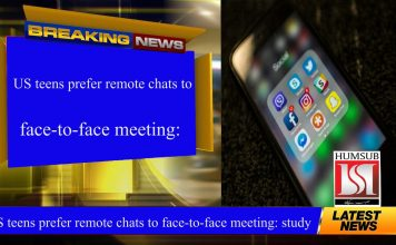 US teens prefer remote chats to face-to-face meeting: study