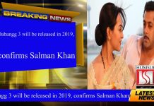 Dabangg 3 will be released in 2019, confirms Salman Khan