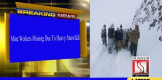 Mine Workers Missing Due To Heavy Snowfall