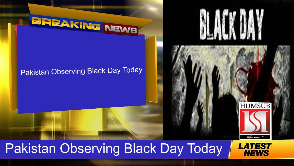 Pakistan Observing Black Day Today