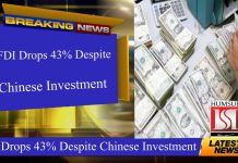 FDI Drops 43% Despite Chinese Investment