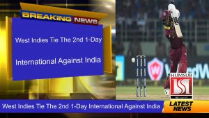 West-Indies Tie The 2nd 1-Day International Against India