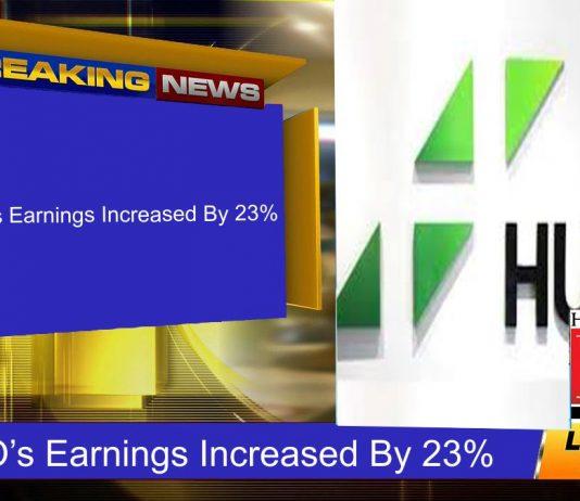 HUBCO's Earnings Increased By 23%