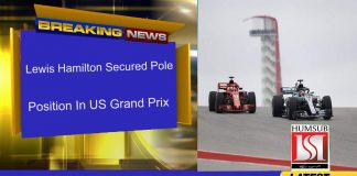 Lewis Hamilton Secured Pole Position In US Grand Prix