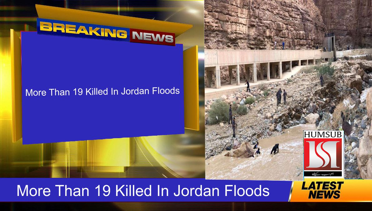 More Than 19 Killed In Jordan Floods