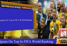 Belgium On Top In FIFA World Ranking