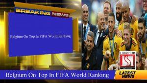 Belgium On Top In FIFA World Ranking