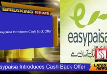 Easypaisa Introduces Cash Back Offer