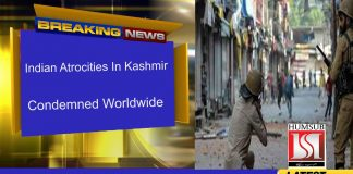 Indian Atrocities In Kashmir Condemned Worldwide