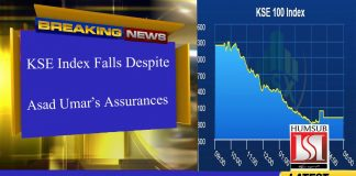KSE Index Falls Despite Asad Umar's Assurances