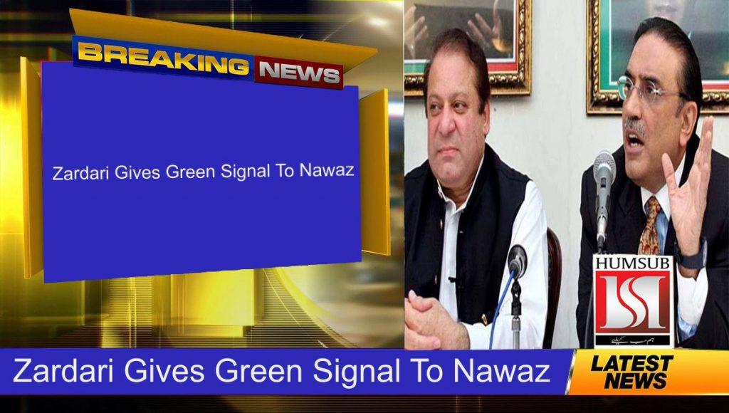 Zardari Gives Green Signal To Nawaz