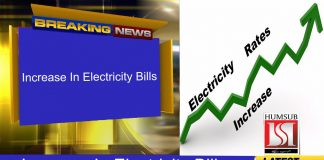 Increase In Electricity Bills