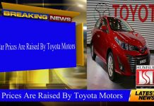 Car Prices Are Raised By Toyota Motors