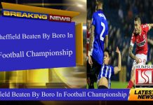 Sheffield Beaten By Boro In Football Championship