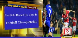 Sheffield Beaten By Boro In Football Championship