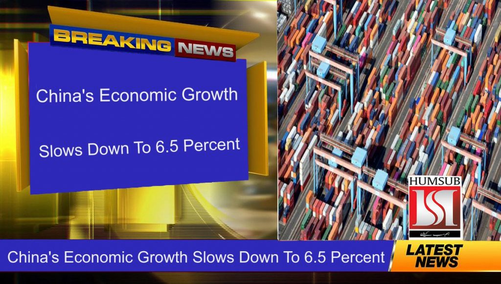 China's Economic Growth Slows Down To 6.5 Percent