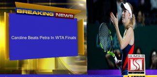 Caroline Beats Petra In WTA Finals